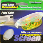 """Set of 3 Microwave 13"""" Splatter Screen Washable Replaces PaperThink Green New"""
