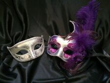 Couple Masquerade Mask Set Costume School Prom Birthday Wedding Bachelor Party