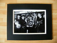 SIR GEORGE MARTIN HAND SIGNED AUTOGRAPH 10X8 PHOTO MOUNT THE BEATLES with COA
