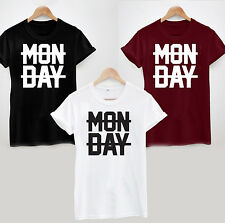 MONDAY CROSSED OUT T SHIRT TOP NIALL HORAN FUNNY HATE MONDAYS SUCK GIFT