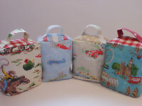 HANDCRAFTED DOORSTOP in CATH KIDSTON FABRICS; Cowboy Planes Vintage Cars London