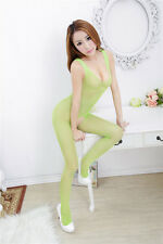 Green Open Crotch Erotic Fishnet Body Stocking Sexy Lingerie Free P&P PRIVATE