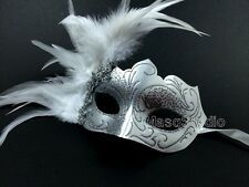 White Masquerade mask Graduation surprise birthday costume bachelor party