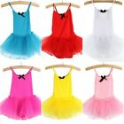 New Kids Girls Party Ballet Costume Tutu Dance Skate Dress Leotard Skirts 2-7Y