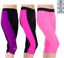 Da Donna Fitness Compressione Leggings Pantaloni Yoga Palestra signore 3 / 4trousers