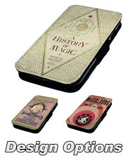 Harry Potter Inspired Book Designs Printed Faux Leather Flip Phone Cover Case