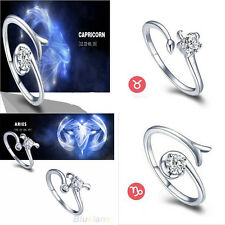 Diaphanous Exquisite 12 Constellations Shaped Adjustable Opening Lovely Ring