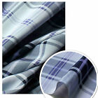 100% pure crepe de chine silk fabric16 momme sell by yard checked pattern