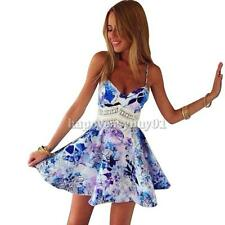 Sexy Women Lady Casual Sleeveless Bodycon Party Evening Cocktail Mini Dress New