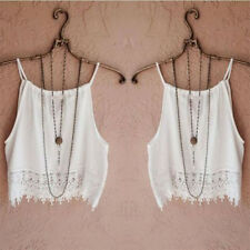 Fashion Womens Summer Lace Tops Short Sleeve Blouse Casual Tank Tops Tee T-Shirt