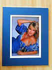 SAMANTHA SAM FOX GENUINE HAND SIGNED AUTOGRAPH 10X8 PHOTO MOUNT PAGE 3 MODEL COA