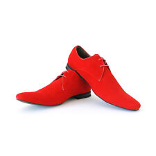 New Mens Dress Shoes Red Suede Bravo Berto Pointed Toe Leather Lining Modern