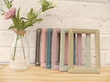 """Picture/Photo Frame/Distressed/Vintage/Shabby Chic/4""""x6""""/Pine/6 Colour Options"""