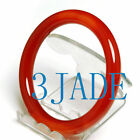 62mm Red Agate / Carnelian Round Bangle Bracelet
