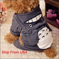 Totoro Cosplay Pet Puppy Dog Summer Winter Clothes Hoodie Sweater Costume Xs-L