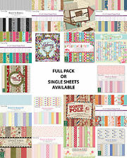 """Dovecraft scrapbooking paper 6""""x6"""" full pack or single sheets"""