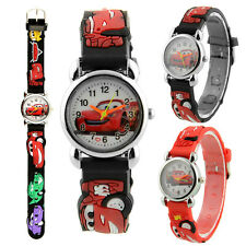 Cute Cartoon 3D Car Printed Child Watchs Kids Watch Band Strap Birthday Gift