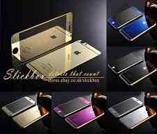 Front Back Mirror Effect Glass Cover For iPhone 6S 6 5 4 With Screen Protector