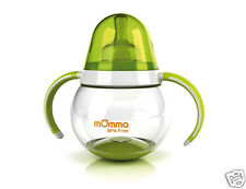 Tomy moMma Rocking feeding biberon Baby bottle/cup dual handle Green or Orange