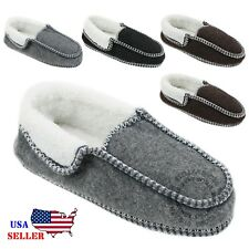 New Womens House Slippers Corduroy Moccasin Slip-on Shoes Size 5-10