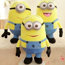 "Soft Despicable Me 2 Minion Doll In Movie Plush 10/20"" Xmas Gift Soft Toy 3D Eye"