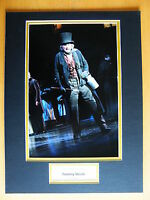 TOMMY STEELE SIGNED RARE AUTOGRAPH 16X12 PHOTO MOUNT SCROOGE MUSICAL POP & COA