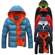 New Winter Mens Warm Hoodies Padded Down Coats Jackets Quilted Outerwear Tops