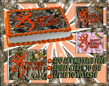 Deer Hunting CAKE topper Edible buck mark icing paper camo camouflage picture
