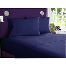 1000TC SCALA  EGYPTIAN COTTON  BEDDING ITEMS  ALL SIZES  NAVY BLUE SOLID