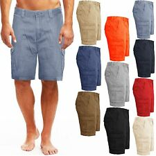 MENS CARGO CHINO SHORTS CASUAL SUMMER KNEE LENGTH COMBAT COTTON BOTTOMS PANTS