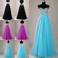 Cheap BEADING Formal Long bridesmaid PROM Dress Formal masquerade Evening gowns