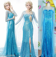 DISNEY ADULT FROZEN ELSA DRESS PRINCESS PARTY FANCY HALLOWEEN  COSTUME