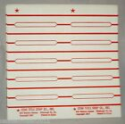 250 Blank Juke Box Title Strips [Star Title Strip Co]