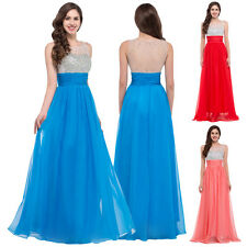 CHEAP BEADED Long Wedding Ball Gown Evening Formal Party Prom Bridesmaid Dresses