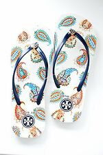 Authentic TORY BURCH THIN PRINTED FLIP FLOPS sz  7 8 9