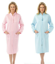 Ladies Lightweight Quilted Long Sleeve Zip up Dressing Gown12/1416/1820/22,24/26