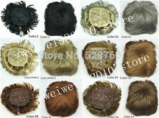 Mens toupee Good quality Synthetic hair Toupees hair loss top piece wig
