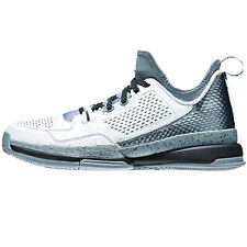 Adidas D Lillard Mens Basketball Shoes  White-Grey-Scarlet