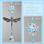 Dragonfly Crystal Cluster 20mm Ball Suncatcher/Pewter/Charm