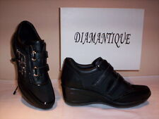 Scarpe sportive sneakers Diamantique donna shoe casual zeppa nere 36 37 38 39 40