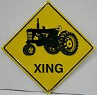 Tractor XING crossing embossed metal sign farm agriculture john deere farmall