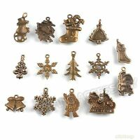 42x Hotsell Assorted Bronze Christmas Charms Alloy Pendants Jewelry Findings L