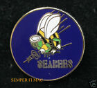 US NAVY SEABEES WWII SEABEE USN HAT PIN SEA BEE USS BADGE CONSTRUCTION MCB