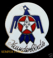 US AIR FORCE THUNDERBIRDS LOGO SEAL HAT PIN F-16 FLACON NELLIS AFB PILOT AIRSHOW