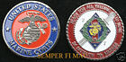 2/7 2nd Battalion 7th US MARINES CHALLENGE COIN PALMS PIN UP 1ST MAR DIV GIFT