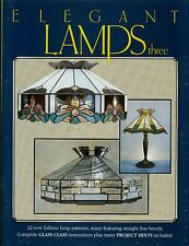 Elegant Lamps Three Stained Glass Pattern Book, Lights, Shades, Panel Lamps
