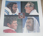 VINTAGE NFL FOOTBALL HALL OF FAME 92 INDUCTION LIMITED ED LITHOGRAPH SIGNED