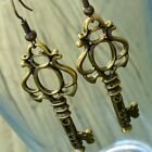 Steampunk CUTE KEY Pirate Earrings Victorian goth witch charm quirky