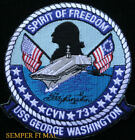 USS GEORGE WASHINGTON CVN 73 PATCH US NAVY AIRCRAFT CARRIER PIN UP WING GIFT WOW