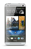 Excellent Unlocked Verizon HTC One M7 LTE 32GB Silver Android Touchscreen